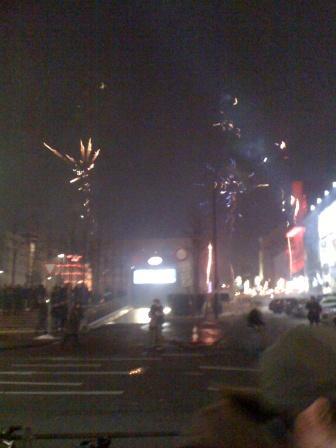 Feuerwerk auf der Reeperbahn